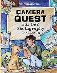 Book cover: Boy holding camera taking a photograph of a dog