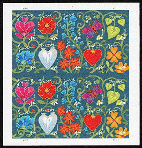Garden of Love Sheet of 20 x Forever US Postage Stamps