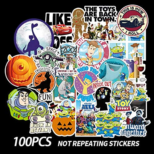50/100 Pcs Pixar Animation Studios Cartoon Stickers For Skateboard Motorcycle Luggage Laptop Guitar Notebook Toy Stickers