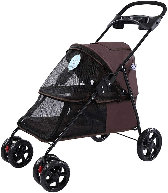 Stroller Cover Wind Pushchair, Dog Pram Rain Coffee) (color
