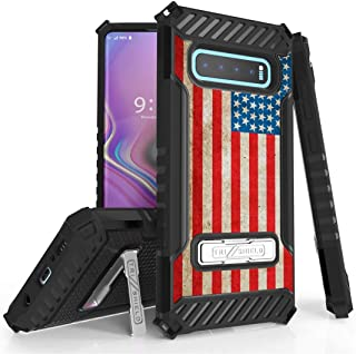 Compatible with Samsung Galaxy S10 Plus Bundle with Tempered Glass Screen Protector and Atom Cloth Beyond Cell AquaFlex Case Camo