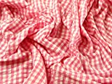 Gingham Check Baumwolle Seersucker Kleid Stoff
