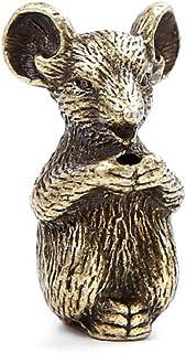 DMtse Brass Mini Antique Mouse Statue Incense Holder Burner Ornaments Meditation Serene Statue Figurine Collectible