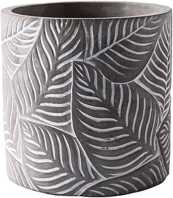 Flower Planter Cement Cylindrical Pot Living Room Clearance SALE Limited time Cheap mail order specialty store Be Home