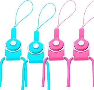 4Pack Cell Phone Neck Lanyard Strap,Necklace/Wrist Hand Lanyard/Keychain for iPhone Case/ID Card Badge/Mp3 Drive for iPhone X/XS,XS MAX,6,7,8 Plus,s8 Plus,S9 Plus etc.Case with Rope Hole-Pink+Blue