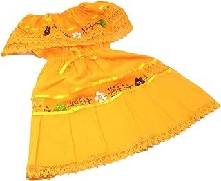 Mexican Dress Child Costume Fiesta Mexicana Theme Party, Dress Hippie Size 2 Yellow, Medium