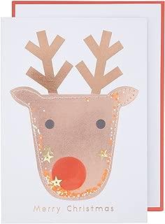 Meri Meri, Reindeer Shaker Card, Christmas Accessory, Birthday, Party Decorations