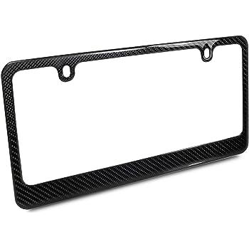 Genuine Carbon Fiber 4 Holes Silm License Plate Frame UV Resistant Glossy Finish Car Beyond Store®