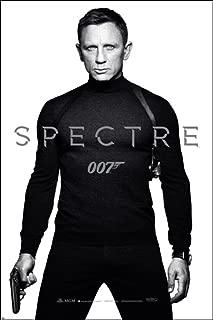 Pyramid America James Bond Spectre 007 Spy Film Movie Series Daniel Craig Black and White Teaser Cool Wall Decor Art Print Poster 24x36