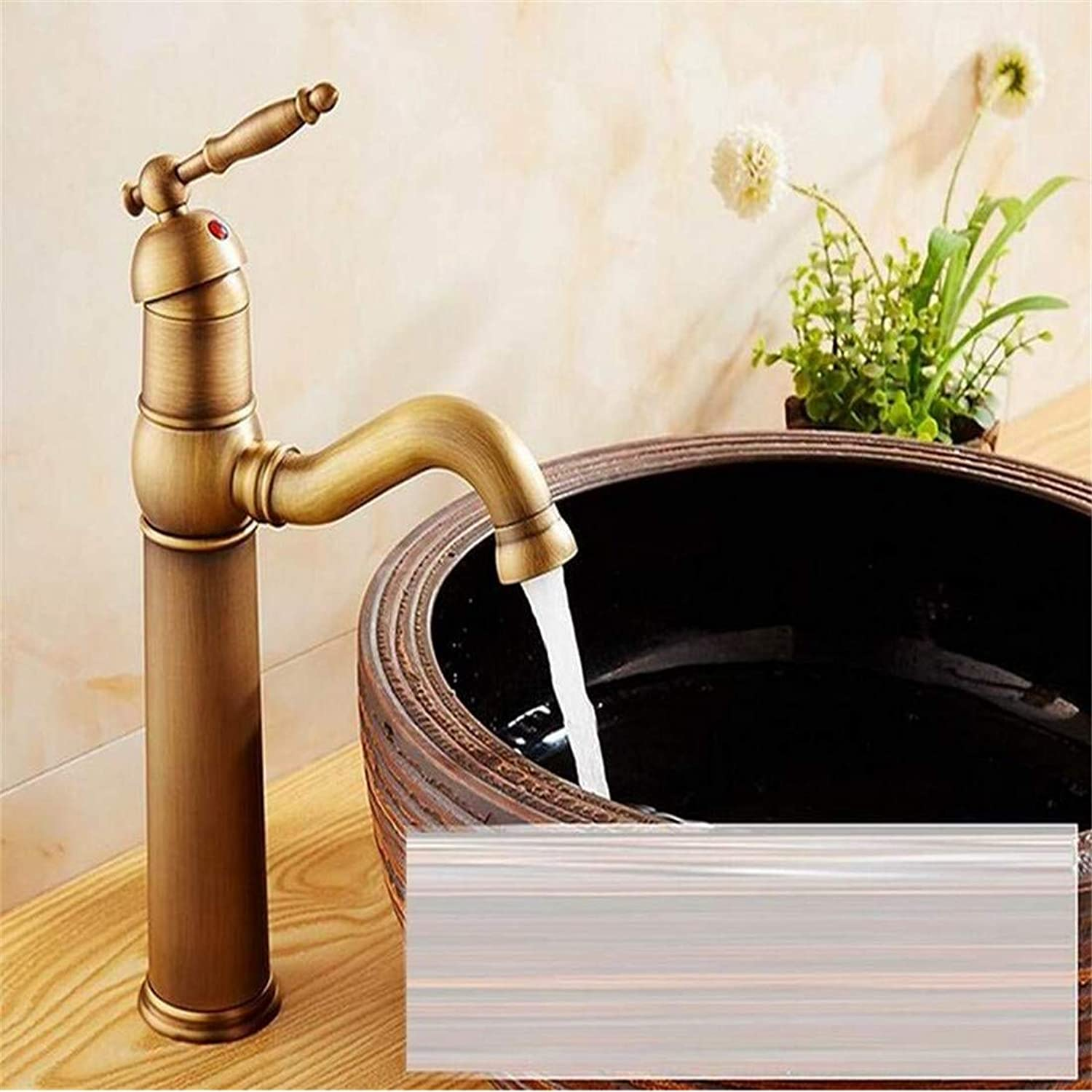 Brass Chrome Vintage Stainless Steel Bathroom Faucets Basin Sink Fashion Antique Copper Hot and Cold Faucet Single Hole Counter Basin Taps