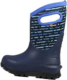 BOGS Outdoor Boots Boys Neo Classic Spot Stripes Waterproof 72506