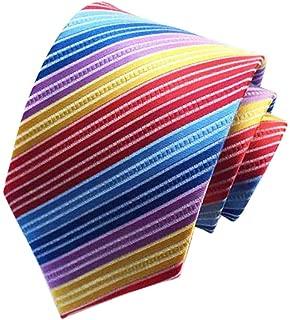 multi colored striped ties