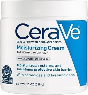 CeraVe 滋潤霜19盎司(約539克)適合干性皮膚的日常面部和身體保濕霜