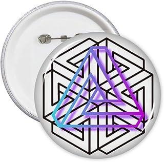Confused Line Infinite Art Déco Cadeau Mode Pin Badge Badge Emblème Accessoire Décoration 5pcs