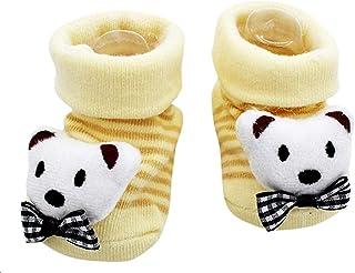 Lovelegis, Calcetines antideslizantes para niños - bebés - 0/12 meses - fantasía - oso papillon - rayas - hombre - mujer - unisex - idea de regalo de cumpleaños