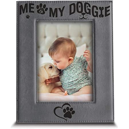 Children/'s Birthdays New Moms Personalized Dog or Puppy Picture Frame Student Graduations Baby Showers Animal Photo Frame for Newborns