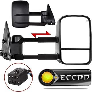 ECCPP Towing Mirrors for Chevy Chevrolet Silverado Tahoe Suburban GMC Sierra Yukon XL Black Power Heated Towing Side Mirrors 2000 2001 2002