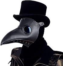 Raxwalker Plague Doctor Bird Mask Long Nose Beak Cosplay Steampunk Halloween Costume Props
