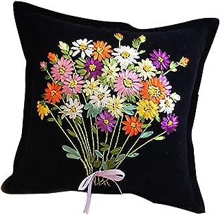 Baoblaze Kit De Broderie Ruban Fleur Loisirs Créatifs Kits de Décoration - 1