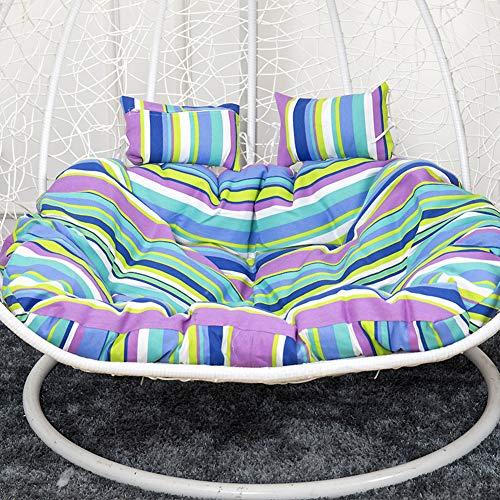 ZYY-Home curtain Hanging Hammock Nest Swing Cushion, Seat Cushion Pad Garden Patio,Hanging Egg Chair Cushion, Double Wicker Rattan Cushion (Only Cushion),R