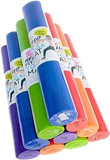 Hello Fit - Kid's Short Yoga Mats - Economical 10-Pack - Nontoxic - Non-Slip - Moisture Resistant