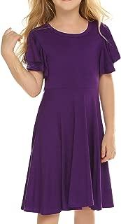 girls purple summer dress