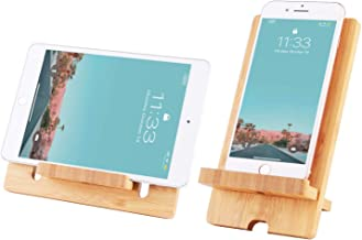 Encozy Cell Phone Stand Mobile Bamboo Wooden Desktop Tablet Holder for smart phone ipad