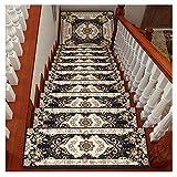LIYUHOUZUONC Tappeti per Scale Corridori per Scale Tappetini Antiscivolo per Pavimenti con Protezione Antiscivolo 24x65cm (Color : C, Size : 1 Piece Set)