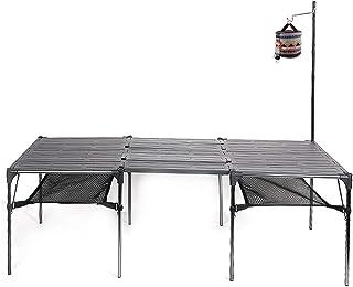 キャンプ用 アウトドア アルミ製テーブル 超軽量材質 ハイキング BBQ 折りたたみ式 コンパクト 収納ケース付き 無限拡大可能...