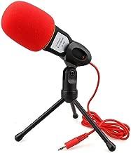 ELINKA Professional Condenser Sound Podcast Studio Microphone for PC Laptop Skype MSN Computer Recording Black with Windscreen Sponge Sleeve