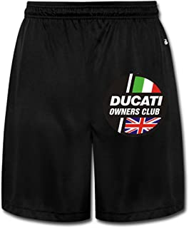 Zengbaba Men's Ducati Owners Club Logo Performance Shorts Sweatpants