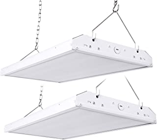 Hyperikon 2 Foot LED High Bay Lighting Fixture, 400 Watt Replacement (110W), Commercial Indoor Linear Lighting, 5000K, UL, 2 Pack