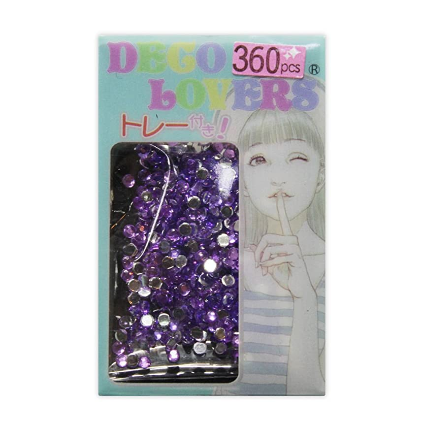 役員天のブースラインストーン DL024/acryl2mm purple