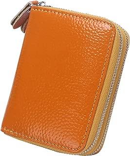 Wiwsi Zip Design Women Short PU Leather Wallet Card Holder Small Purses Clutch