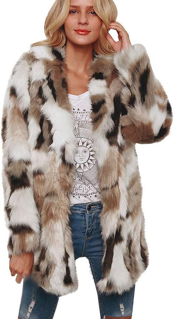 Faux Fur Coat Women, NRUTUP Vegan Fur Jacket, Winter Teddy Bear Jacket, Warm Coat Casual Office Work