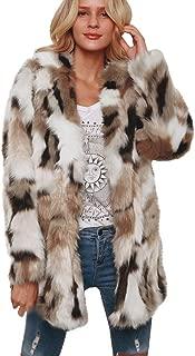 Women Ladies Luxury Faux Fur Long Jacket Winter Warm Parka Plush Elegant Outwear Overcoat Coat Khaki
