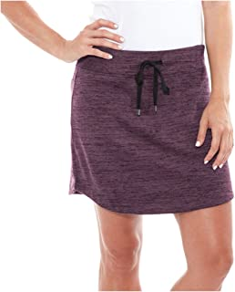 Zohba Ladies Slub Skort (Small, Plum)