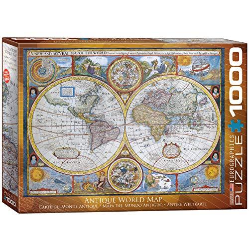ジグソーパズル 1000ピース ユーログラフィックス アンティーク世界地図 6000-2006
