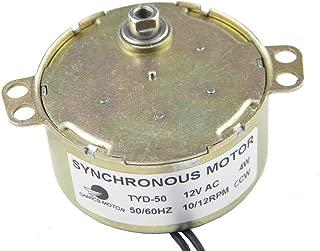 CHANCS TYD-50 Synchronous Motor 12V AC 10-12RPM CCW Flush Shaft Width 5.5mm Electric Motor