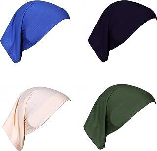 GladThink 4 X Womens Muslim Mini Inner Hijab Caps
