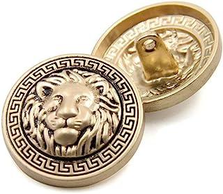 10PCS Clothes Buttons - Fashion Lion Head Sewing Button Round Shaped Metal Button Set for Men Women Blazer, Coat, Uniform,...