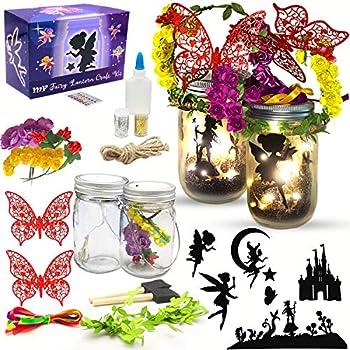 Fairy Lantern Craft Kit for Girls and Boys Fairy Garden Kit DIY Fairy Jar Night Lights Craft for Kids