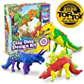 Creative Kids Dinosaur Craft Kit for Kids - Arts & Crafts Kids Ages 6-12 Boys - Make Build Your Own Crafts Dinos Complete with Air Dry Modeling Clay - Build 3 Dinosaur Figures with Modeling Clay