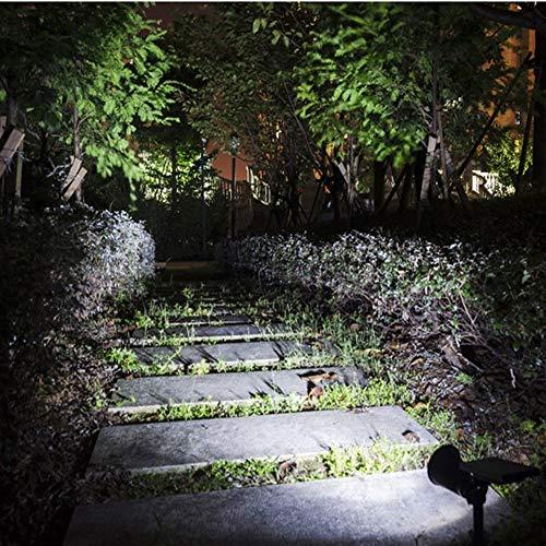 Impermeable al aire libre Tierras linterna Camino patio Solar de doble propósito focos LED están montados en la pared luces del jardín patio al aire libre impermeable (Size : White light)