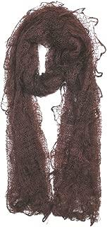 Russian Goose Wool Chocolate Brown Orenburg Scarf/shawl 44