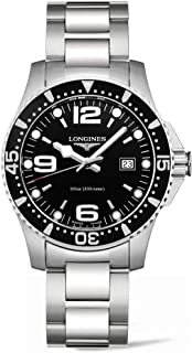 Longines Men's L3.640.4.56.6 Hydro Conquest Black Dial Watch