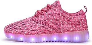 EVLYN Kids Boys Girls Breathable LED Light Up Flashing Sneakers Light Sport Shoes
