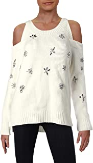 INC Womens Petites Knit Embellished Pullover Sweater