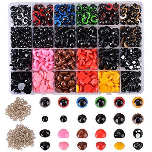 Queta Set de Ojos de Seguridad, Ojos de Plástico para
