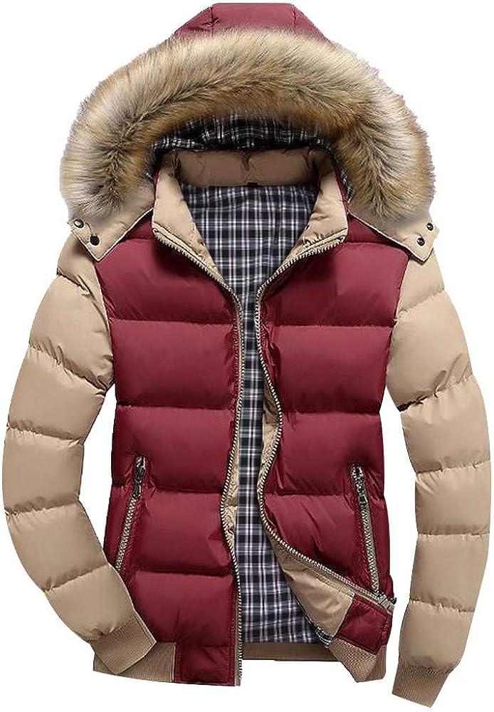 Goddessvan Men Faux Fur Hooded Parka Today's only Jac Lowest price challenge Winter Outerwear Zipper